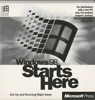 Classic Pc Software - Windows 98 - Starts Here - Official Win98 Instruction Disk