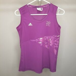 Adidas Womens Small Tank Top 2012 London Olympics Geometric Rare Purple Gold