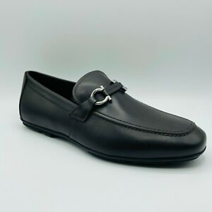 Salvatore Ferragamo Nowell 2 Mens Dark Brown Leather Horsebit Loafer Shoe 722234