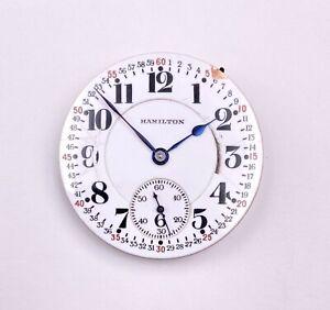 1926 Hamilton 16s 21j Montgomery Railroad Dial Pocket Watch 992/2 #2415294 OF