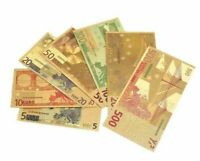 Geld Euro Scheine 5€ - 500€ in Gold 18k