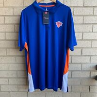Fanatics New York Knicks Blue/Orange Polo Golf Shirt - Men's Size 2XL - NWT