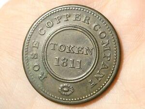 1811 ROSE COPPER COMPANY Birmingham & Swansea Halfpenny Token Condor  #TT137