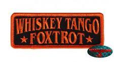 WHISKEY TANGO FOXTROT Patch Aufnäher Aufbügler Biker 1% Rocker Harley Trucker