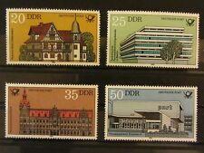 DDR 1982 Mi-Nr: 2673 - 2676 Bauten der Deutschen Post  postfrisch **