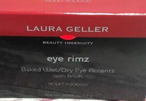 Laura Geller Eye Rimz Baked Wet/ Dry Eye Accents With Brush ~ Violet Voodoo