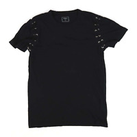 Pep & Co Black Cotton Womens T-Shirt Size S-M (Regular)