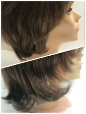 2 Paula Young Wig #A5018 A4333 Brown w Golden Red Highlights
