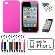 Étuis, housses et coques roses iPhone 4s en silicone, caoutchouc, gel pour téléphone mobile et assistant personnel (PDA)