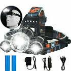 100000LM T6 LED Headlight Headlamp Head Torch 18650 Flashlight Work Light Lamp
