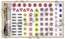 Diorama/Model Accessory - 1/87 (HO Scale) U.S. City Traffic Signs