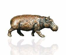 Hippo - Wildlife Bronze Miniature Sculptures - Butler & Peach 2006.