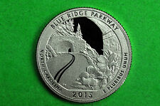 2015-S GEM Proof Deep Cameo (Blue Ridge Parkway) National Park Quarter(c/n clad)