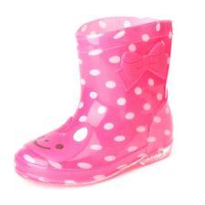 Kids Girl Boy Cartoon Jelly Rainshoes Non-slip Rain Boot Shoes Mid Calf Galoshes
