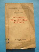 fallimento dell'industria sovietica comunismo OMAR TEREKIS intonso 1939 raro
