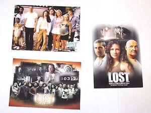 2005 2006 LOST PROMO 3 CARD LOT # L2-1 LR-1 NSU 2! REVELATIONS tv series show!