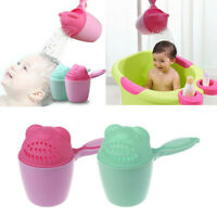 Baby Bath Cap Toddle Hair Washing Shampoo Cup Kids Bathing Bailer Shower Spoon
