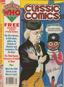 RARE: Doctor Who Classic Comics issue 7, with poster. % to charity do!