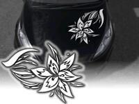 Aufkleber Tribal Blume Hibiskus Sticker 60cm JDM Decals OEM Auto tattoo Motorhau
