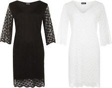 Tunikas Kleider mit V-Ausschnitt aus Polyester