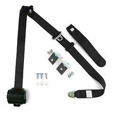 Black Retractable Front Shoulder Seat Belt Jeep CJ YJ Wrangler 82-95 3 Point 2PC