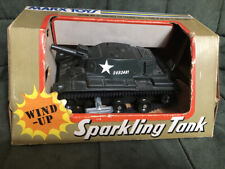 Vintage Marx Wind Up Plastic Sparkling Tank in Original Box 1974 - WORKS!