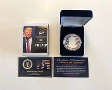 2016 DONALD TRUMP OFFICIAL Presidential .999 Silver Plated Tribute Coin with COA