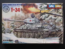 Rare Tamiya Mokei 1/35 Motorized T-34 (100% Complete in Factory Sealed Bags)