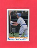 1982 Topps baseball #195 PAUL MOLITOR Milwaukee Brewers Hall of Fame