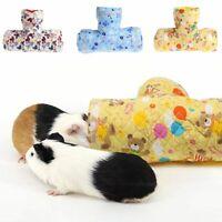 2 Designs Small Animal Hamster Toy Tunnel Cartoon Print Guinea pig Rabbit Nest