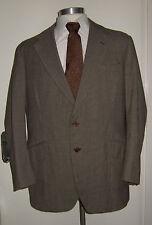 """Vintage 1960's BERNARD COOPER Brown Tweed Jacket Keith & Hernderson Cloth 42-44"""""""