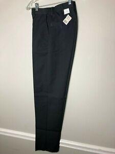Red Kap Men's Elastic Waist Work Pants, Charcoal Gray Size 30 Waist Unhemmed