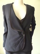 George Gross Long Sleeve Collarless Jacket  Size 8  US 4 rrp $899.00