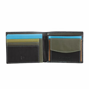 DUDU Man's RFID wallet multicolour soft leather classic with coin purse