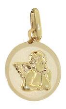 Small Guardian Angel Gold 585 - Gold Pendant 14 KT Angel Christening Communion