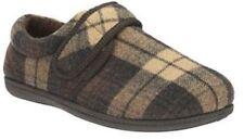 Pantofole da uomo marrone con velcro