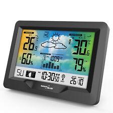 Station météo baromètre Adaptateur d'alimentation Calendrier Fonction snooze