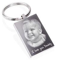 Personalised Photo Keyring, Keychain Engraved, Father's day gift, Keepsake