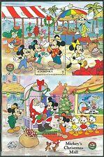 Dominica Disney Mickey'S 60th S/S Set Scott #1738/39 Mint Never Hinged