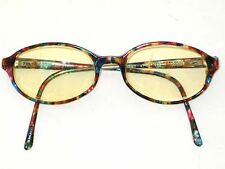 FLAIR EYEGLASSES RAINBOW COLORFUL SPECKLED 47 10 140 ST. MORITZ 1990's
