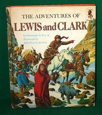 Vintage Book Adventures of Lewis & Clark - Random House NY 1968 - Step Up Books
