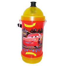 DISNEY CARS SIP N SNACK DRINK CANTEEN WITH STRAP . LIGHTNING MCQUEEN MATER