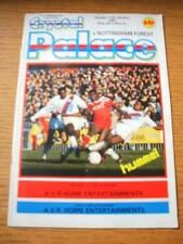 11/01/1987 Crystal Palace v Nottingham Forest [FA Cup] (Team Changes). No obviou