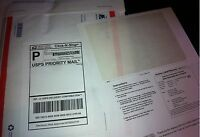 100 Laser /Ink Jet Labels Click-N-Ship with Tear Off Receipt -Perfect for USPS!