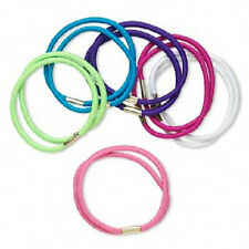 3728JE Hair Tie Ponytail Holder mix twist stretch fabric, assorted colors 12 Qty