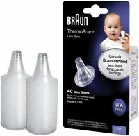 Braun ThermoScan Lens Filters  Ear Thermometer Covers - 40 Pack - GENUINE BRAUN