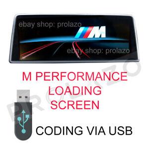 BMW NBT and EVO M PERFORMANCE IDRIVE BOOT LOGO Coding via USB