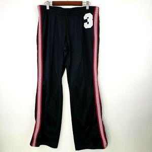 No Boundaries Womens Junior Size L Black Pink Pinstripe Casual Workout Pants