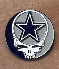 Grateful Dead Dallas Cowboys Lapel Pin. Hat Pin. Steal Your Face.
