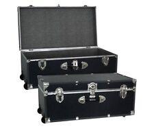 School Traveling College Mercury Luggage Trunk Wheels Storage Footlocker Wedding